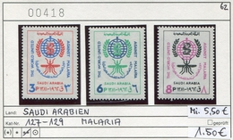 Saudi Arabien - Saudi Arabia - Michel 127-129 - ** Mnh Neuf Postfris - Malaria - Saudi Arabia