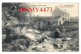 CPA - Lavoir Saint Antoine, Bien Animée - L'ABERVRACH ( Landeda Canton De Plabennec ) 29 Finistère - Coll. Andrieu N°818 - Kersaint-Plabennec