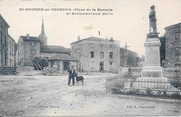 Saint-Maurice-en-Gourgois - Place De La Bascule Et Monument Aux Morts - France