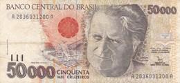 Brésil - Billet De 50000 Cruzeiros - Non Daté - Camara Cascudo - Brésil