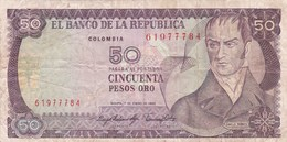 Colombie - Billet De 50 Pesos - 1er Janvier 1983 - Camilo Torres - Colombia