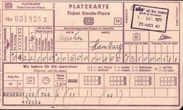 ! 5 Eisenbahn Platzkarten, Deutsche Bahn, ÖBB, 1977-1979, Hamburg, München, Wien - Europe