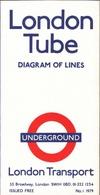 ! London Tube Map 1979 , U-Bahn Plan, Underground - Europa