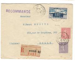 18540 - ARTS DECO Pour La SUISSE - Postmark Collection (Covers)