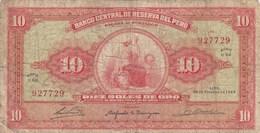 Pérou - Billet De 10 Soles De Oro - 25 Février 1965 - Pérou