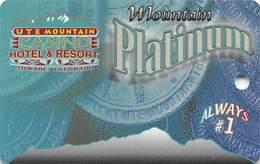 Ute Mountain Casino - Towaoc CO - BLANK Platinum Slot Card - Casino Cards