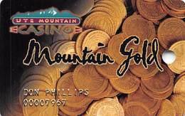 Ute Mountain Casino - Towaoc CO - 1st Issue Slot Card - Casinokarten