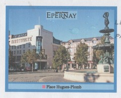 EPERNAY 51 MARNE - EPERNAY CAPITALE DU CHAMPAGNE, PLACE HUGUES PLOMB, UNE FONTAINE, PAP ENTIER POSTAL VOYAGE EN 2008 - Altri