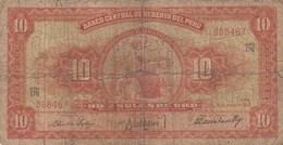 Pérou - Billet De 10 Soles De Oro - 18 Juin 1962 - Pérou