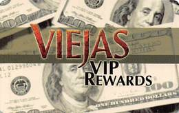 Viejas Casino Alpine CA - BLANK VIP Rewards Slot Card - No Insert Arrows On Back - Casino Cards