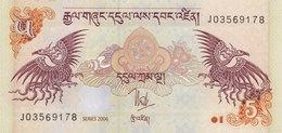 Bhoutan - Billet De 5 Ngultrum - 2006 - Neuf - Bhután