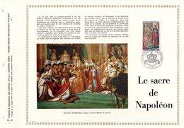 """RARE (1500 Ex) """" LE SACRE DE NAPOLEON A NOTRE DAME DE PARIS """" Sur Feuillet PAC 1er Jour .  N° YT 1776. Parf état. FDC - Napoléon"""