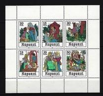 DDR Kleinbogen Mi-Nr. 2382 - 2387 Märchen Rapunzel Postfrisch - DDR