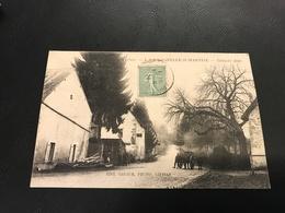 4 - LA CHAPELLE ST MARTIAL Grande Rue - 1921 Timbrée - France