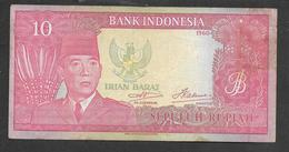 Indonesia Irian Barat 10 Rupiah 1960 VF- - Indonesien