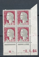 N°1263 BLOC DE 4 VARIETE TENANT A NORMAL. - Unused Stamps