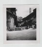 Photo La Bourne Pont En Royans 14 Juillet 1936 Publicités Visibles Hôtel Bonnard Garage Guttin - Places