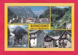 Modern Multi View Post Card Of Sonogno, Ticino, Switzerland,P16.. - TI Ticino