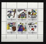 DDR Kleinbogen Mi-Nr. 1995 - 2000 Unten Nicht Durchgezähnt - Märchen Postfrisch - DDR