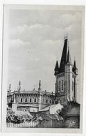 (RECTO / VERSO) CHATEAUBOURG EN 1954 - N° 3 - L' EGLISE - BEAU TIMBRE - PETITE COUPUREHAUT A DROITE - FORMAT CPA VOYAGEE - France