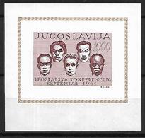 JUG002 - 1961 CONFERENZA DEI PAESI NON ALLINEATI - BF7 NON DENTELLATO  - NUOVO - 1945-1992 Repubblica Socialista Federale Di Jugoslavia