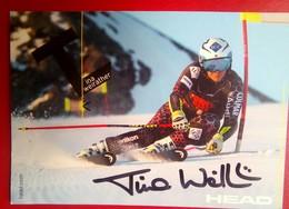 Tina Weirather   Signed  (Liechtenstein Skier) - Invierno