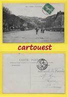 CPA VIENNE 38 ֎ Le Cours Brillier Et Le Tramway à Vapeur De Vienne à Charavines ֎ 1908 - Cliché C.D. Blanchard - Vienne