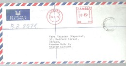 LETTER 1972 LUSAKA - Zambie (1965-...)