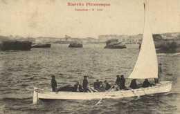 Biarritz Trénière 1e Plan Barque à Voile RV - Biarritz