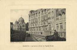 BIARRITZ Le Carlton Hotel Et L'Eglise Russe RV RV - Biarritz