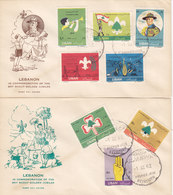 Lebanon-Liban 10962 Scout En 2 FDC- LQUIDATION PRICE- Scarce - SKRILL PAYMENT ONLY - Libanon