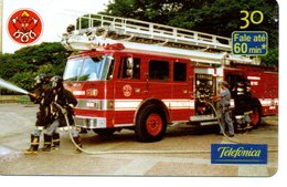 Pompier Fire Brigade Feuerwehr Télécarte Phonecard Brésil (D 514) - Pompiers