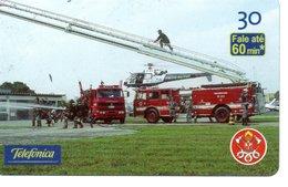 Pompier Fire Brigade Feuerwehr Télécarte Phonecard Brésil (D 515) - Pompiers
