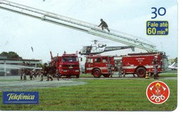 Pompier Fire Brigade Feuerwehr Télécarte Phonecard Brésil (D 515) - Firemen