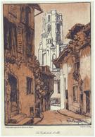 Vers 1920 - Lith. Orig. De Maurice De Becque (1878 Saumur - Plougasnou 1928) - Albi - La Cathédrale - FRANCO DE PORT - Lithographies