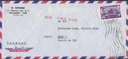Iran Air Mail G. SCHICHLER C/o SIEMENS IRAN A.G., KHORRAMSHAHR 1964 Cover Brief KÖLN Germany 14R. Palast Des Dareios - Iran