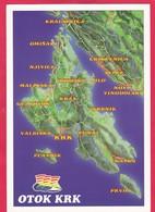 Modern Multi View Post Card Of Otok Krk,Primorje-Gorski, Croatia,P16.. - Croatia