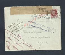 LETTRE SUR TIMBRE TOMBÉE EN REBUS SUITE DECÉS ALMERAS PARIS 1944 : - France