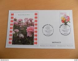 FDC MONACO 2014 : Roseraie Princesse Grace (Timbre De 0.66 Euro) - FDC