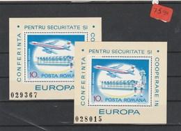 Rumänien    Posta Romana     Postfrisch**   2x MiNr. Block 143 - Rumänien