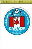 018 STICKER - FEESTZALEN CANADA ZILLEBEKE - SALLE DES FETES - Autocollants