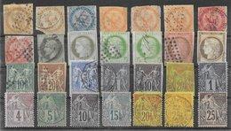 France Colonies Générales Classiques Lot De 28 Tp 1859-1881 O & (*) - France (ex-colonies & Protectorats)