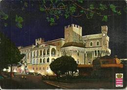 Principaute De Monaco, Montecarlo, Place Du Palais Et Palais De S.A.S. Le Prince La Nuit, By Night, Notturno - Palazzo Dei Principi