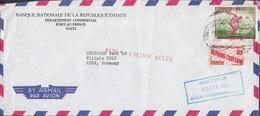 Air Mail BANQUE NATIONALE DE LA REPUBLIQUE D'HAITI 1960 Cover Lettre Olympic Games Alphabetisation PAN AMERICAN Cds. - Haiti
