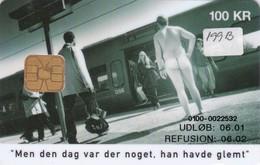 Denmark, DD 199B, 100 Kr, DSB Betalingsservice, Train, Only 4.994 Issued, 2 Scans. - Denmark