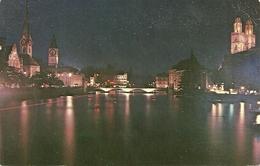 Zurich (Zurigo, Svizzera) Im Abendlicht, Veduta Notturna, View By Night, Vue De Nuit - ZH Zurich