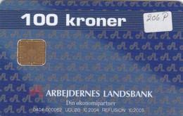 Denmark, DD 206P, 100 Kr, Arb.landsbank Blue, Only 1.717 Issued. - Denmark