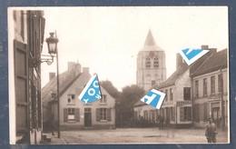 """Kortemark Dorp Met Kerk En """"herberg Den Haan"""" En """"in De Eendracht"""" 1917  Duitse  Fotokaart 1914 1918 - 14 Cm X 9 Cm - Kortemark"""