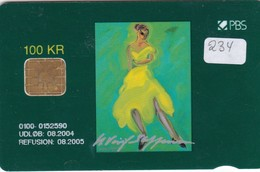 Denmark, DD 234, Balletdanser, Only 2682 Issued, 2 Scans. - Denmark