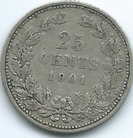 Netherlands - Wilhelmina - 1901 - 25 Cents - KM120.1 - [ 3] 1815-… : Kingdom Of The Netherlands